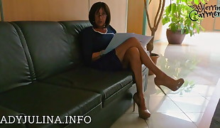 Office Domina High Heels Nylons Job Interview Lecksklave