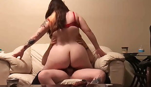 Austin Plumper fucked in the couch