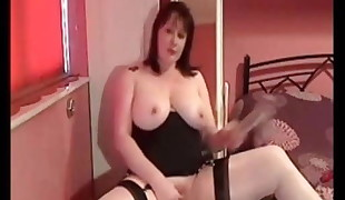 My Cougar Exposed Mature wife in stockings shaved vag fucktoys