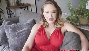 Gorgeous MILF Linn Karter Point of view fucked by big dick stepson