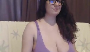 Large breasted girl