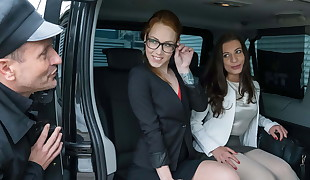 FUCKED IN TRAFFIC - Czech petite pummeled by cab driver