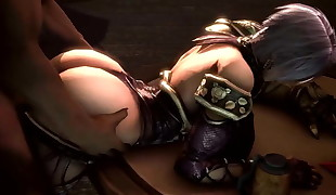 Big Bum Ivy From behind and titfuck (Soul Calibur 3 dimensional Hentai)