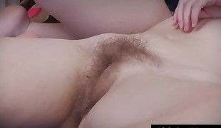 Cute hairy gfs smash in the bedroom