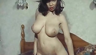 RUMBLED - vintage Brit phat boobs striptease hairy pussy