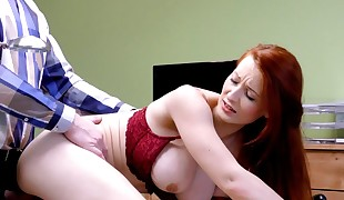 LOAN4K. Hot redhead whore fucks her credit agent